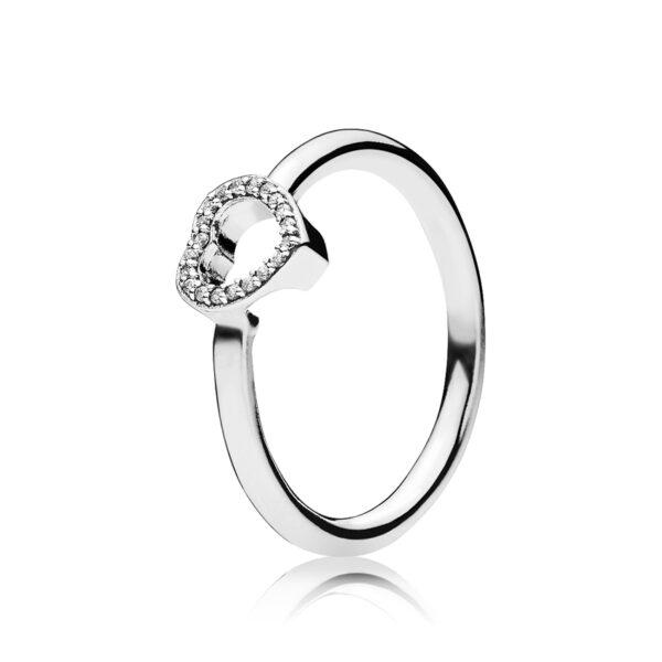 Δαχτυλίδι Ασ.925 Και Κυβική Ζιρκόνια, Καρδιά 196549Cz