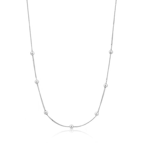 Κολιέ Ασήμι 925, Modern Beaded N002-03H