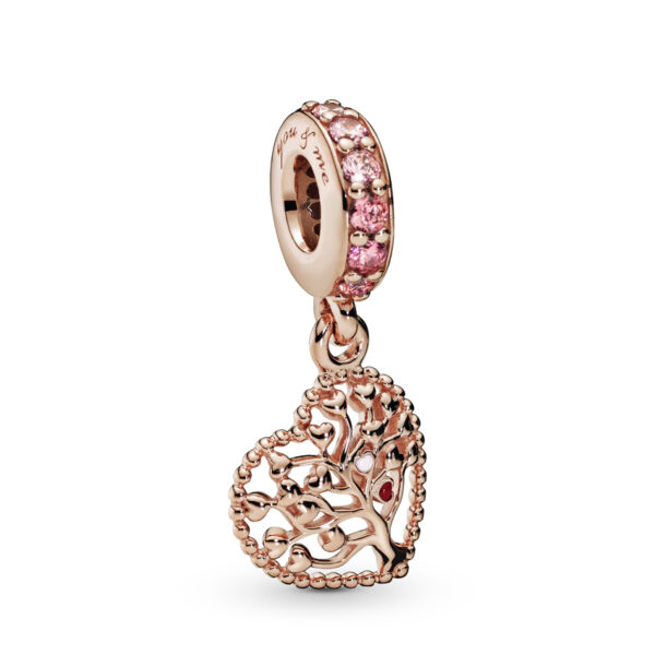 Κρεμαστό Σύμβολο Pandora Rose Με Κυβ. Ζιρκόνια Και Σμάλτο, Δέντρο Της Αγάπης786592Czsmx