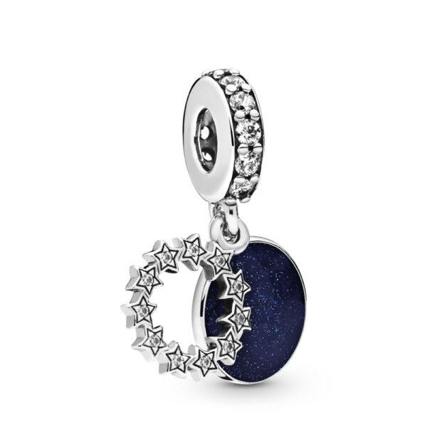 Κρεμαστό Σύμβολο Ασ. 925 Με Κυβ. Ζιρκόνια Και Μπλε Σμάλτο, Inspirational Stars 798433C01.Jpg