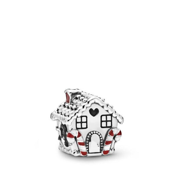 Σύμβολο Ασ. 925 Με Κυβ. Ζιρκόνια Και Σμάλτο, Μπισκοτένιο Σπίτι 798471C01.Jpg