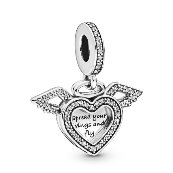 Κρεμαστό Σύμβολο Ασ. 925 Με Κυβική Ζιρκόνια, Καρδιά Και Φτερά Αγγέλου 798485C01.Jpg