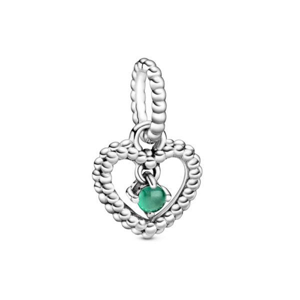Κρεμαστό Σύμβολο Ασ. 925 Με Σκούρο Πράσινο Κρύσταλλο, Καρδιά 798854C05.Jpg