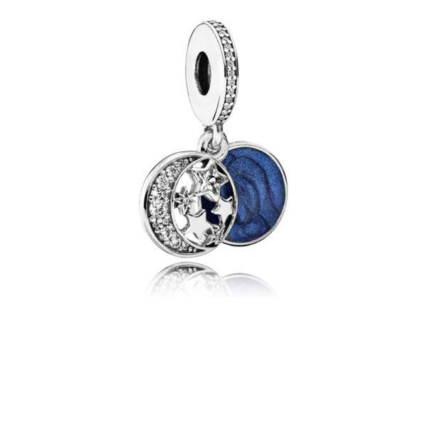 Κρεμαστό Σύμβολο Ασ.925 Με Κυβ. Ζιρκόνια Και Μπλε Σμάλτο, Έναστρος Ουρανός 791993Cz.jpg