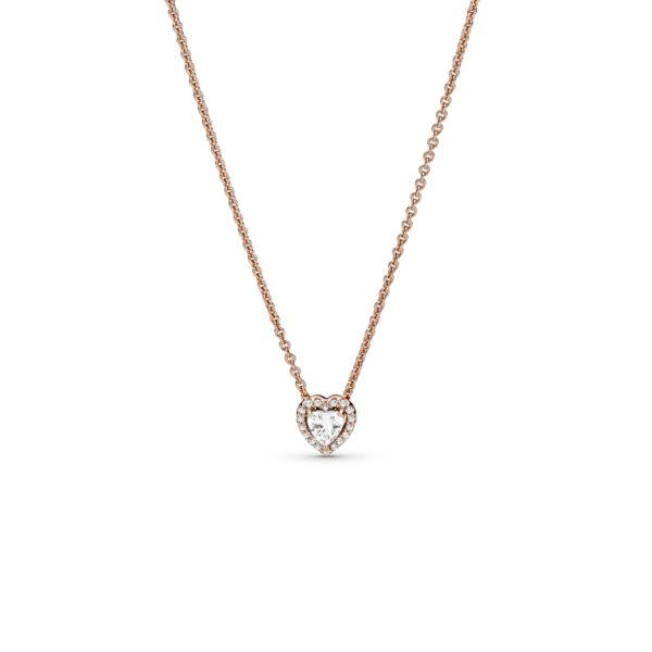 388425C01 Κολιέ Pandora Rose Με Κυβική Ζιρκόνια, Καρδιά