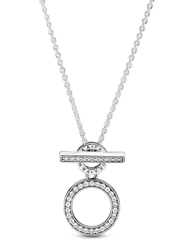 399039C01 Κολιέ Ασ. 925 Με Κυβ. Ζιρκόνια, Λογότυπο Pandora