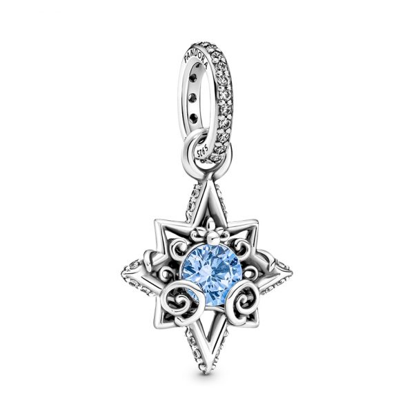 399560C01 Κρεμαστό Σύμβολο Ασήμι 925 Με Κρύσταλλο Και Κυβ. Ζιρκόνια, Αστέρι Disney Cinderella