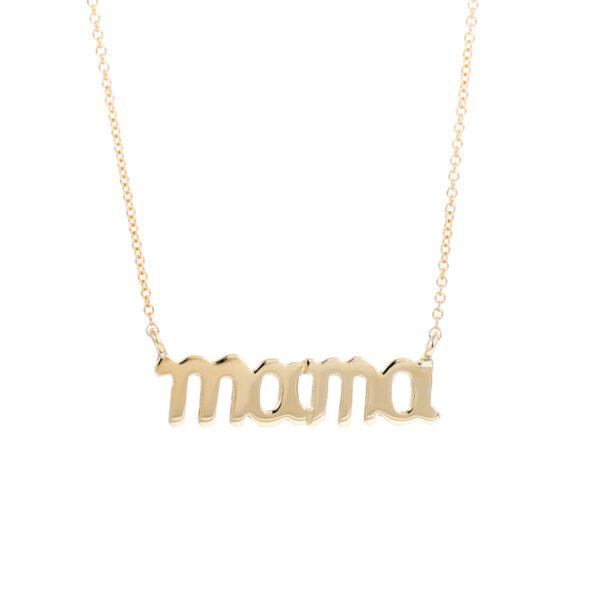 Σμ8210-1.8 Κολιέ Κίτρινο Χρυσό Κ14, Mama