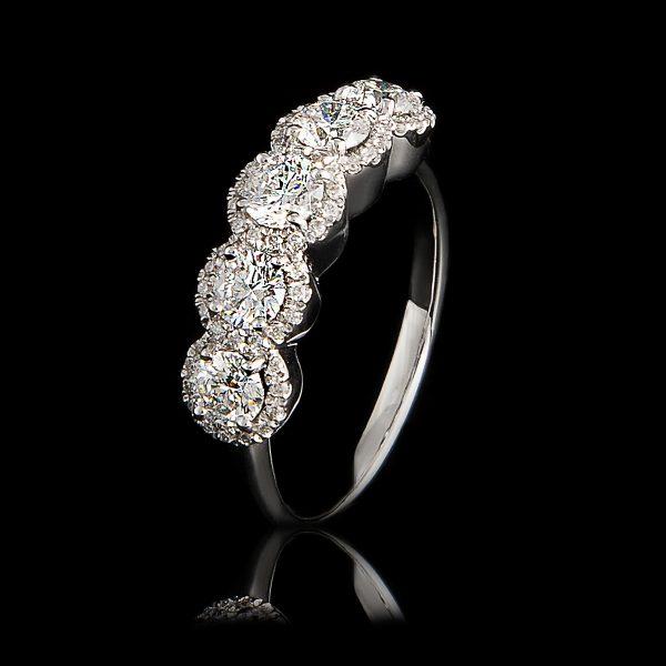Δαχτυλίδι Σειρέ Λευκόχρυσο Κ18 Με Φυσικά Διαμάντια Lr4694H