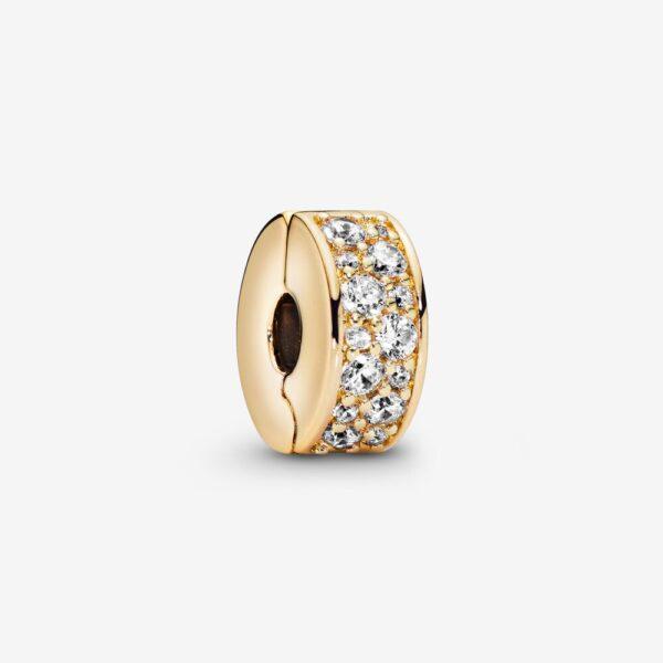 Κλιπ Με Κυβική Ζιρκόνια Και Σιλικόνη, Pandora Shine 768658C01