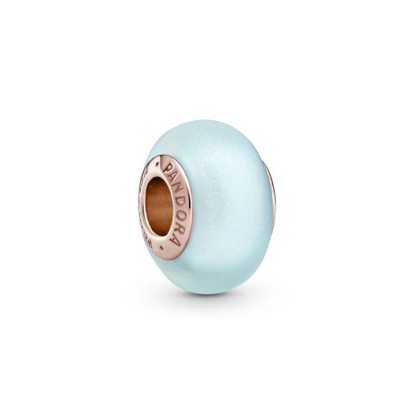 789420C00 Σύμβολο Pandora Rose Ματ Μπλε Γυαλί Murano