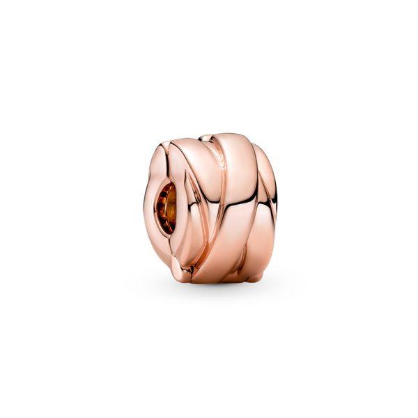789502C00 Κλιπ Ασήμι 925 Με Επίστρωση Ροζ Χρυσού Κ14, Φιόγκος