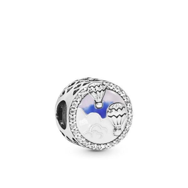 Σύμβολο Ασ. 925 Με Κυβ. Ζιρκόνια Και Σμάλτο, Αερόστατο 798061Cz