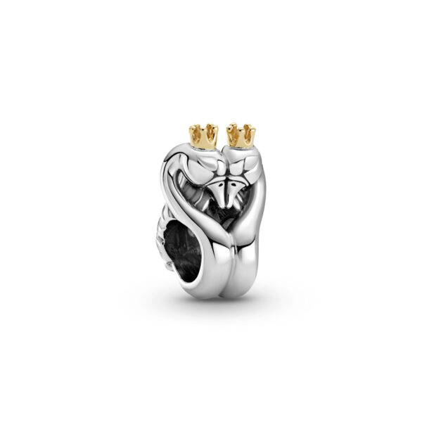 Σύμβολο Ασ. 925 Και Χρυσό Κ14, Κύκνοι Καρδιά 799315C00