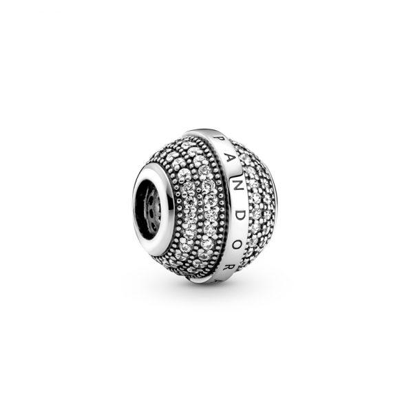 799489C01 Σύμβολο Ασήμι 925 Με Κυβική Ζιρκόνια, Λογότυπο Pandora