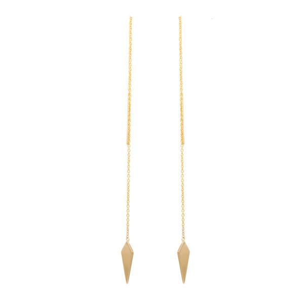 Σκουλαρίκια Κίτρινο Χρυσό Κ14, Γεωμετρικό Σχήμα Ksk0031Kk-1