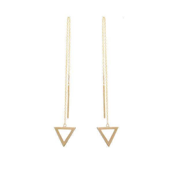 Σκουλαρίκια Κίτρινο Χρυσό 585, Γεωμετρικό Σχήμα Ksk0033Kk-1