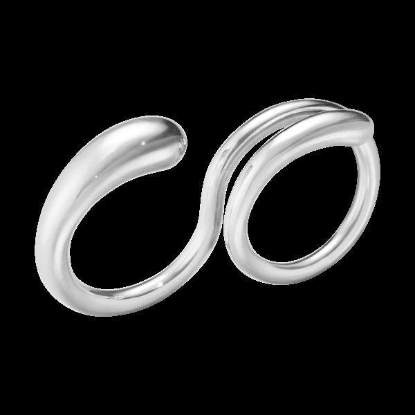 20000081 Διπλό Δαχτυλίδι Mercy Από Μασίφ Ασήμι 925
